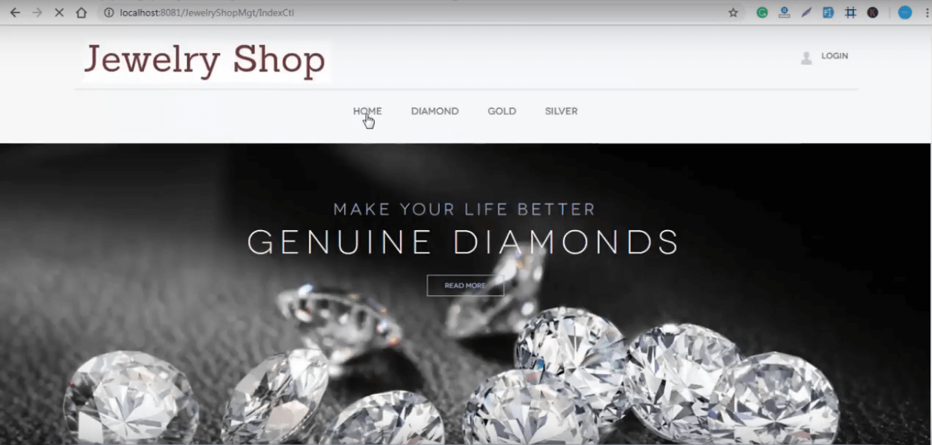 Jewelry Shop Management project in java