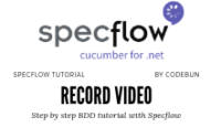 Video recording in selenium using specflow