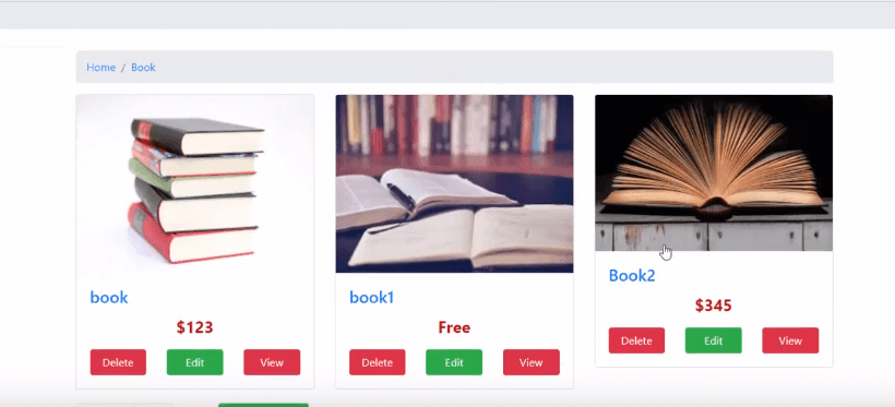 Online book shop project in java