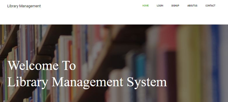 Library managemenet System project in java